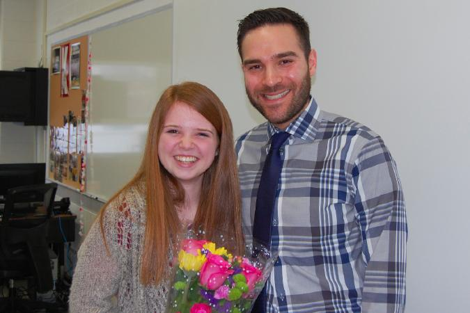 Hannah+Boufford%2C+IJEA%27s+2016+Illinois+Journalist+of+the+Year%2C+and+her+adviser%2C+Michael+Gluskin%2C+received+the+good+news+about+the+award+Tuesday%2C+March+1%2C+when+IJEA+board+members+Brenda+Field+and+Stan+Zoller+visited+Libertyville+H.S.+to+make+the+announcement+in+person.+Boufford+is+IJEA%27s+27th+Journalist+of+the+Year+since+1989.+She+now+advances+to+the+national+competition%2C+with+the+winner+to+be+announced+in+mid-April+at+the+JEA%2FNSPA+Spring+National+High+School+Journalism+Convention+in+Los+Angeles.