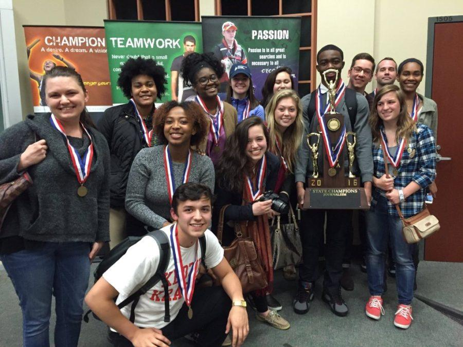 The+team+from+Homewood-Flossmoor+High+School+took+home+first+in+state+at+the+annual+IHSA+Journalism+State+tournament+held+at+Eastern+Illinois+University+on+April+29.