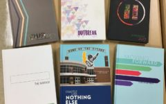 The 2017 IJEA Yearbook Contest General Excellence Winners (top to bottom; left to right): West Prairie High School (Division 1), Taylorville High School (Division 4), Meridian High School (Division 2), McHenry High School (Division 5), Glenbrook South High School (Division 6), Richmond-Burton High School (Division 3)